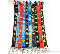 Wholesale Mario Bros Lanyard - Super Mario Bros Lanyard Keychain Holder Key Card ID Holders Badge Neck Lanyard String Straps