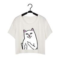 Wholesale Woman White Plain Shirt - t shirts for women harajuku bare midriff women t shirt shirt for women fashion brand new clothing white plain free shipping NV48-Cat