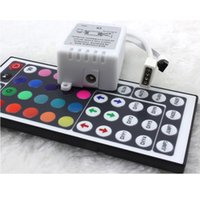 Wholesale controller box for led - Wholesale- New Fahsion 44 Key IR Remote Controller RGB Control Box DC12V For LED 3528 5050 Strip Light