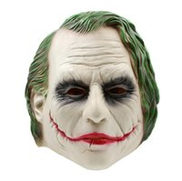 máscara de filme de látex venda por atacado-Joker Máscara Batman Realista Traje Do Palhaço Máscara de Halloween Adulto Cosplay Filme Full Head Latex Máscara Do Partido