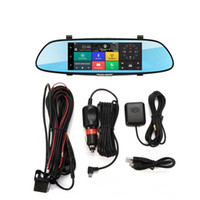 Wholesale Network Dvr Card - BEIBEIKA 7.0 inch touch 3D network Android 5.0 quad core RAM 1GB bluetooth Dual Cam Mirror Car DVR