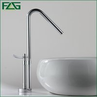 Wholesale Vegetable Wash Taps - FLG European Basin Faucet Chrome Polished Single Lever 360 Degree Rotating Cold And Hot Vegetable washing Sink Mixer Taps M055