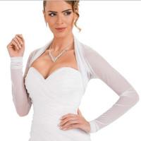 786fa0e9e4295b American European Design Long Sleeves Großhandel / Einzelhandelspreis Weiß  Tüll Braut Jacke 100% Gute Qualität Hochzeit Bolero