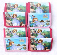Wholesale Wholesale Sofia First - Free shipping 12 pcs Sofia the First folding Wallets coin Purses card holder bags with zipper Wholesale kids Xmas gifts