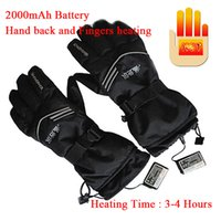 Wholesale heat finger - Wholesale- Newest! USB Electric Heating Gloves Outdoor Lithium Battery Self Heating Gloves Fingers and Back hand Heating