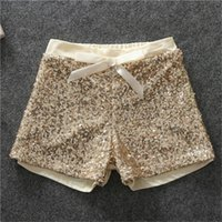 Baby Girls Sequins Bow Short Pants 2017 Kids Girls Princess Pantalons de luxe Babies Printemps été Vêtements de mode vêtements pour enfants