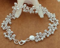 Wholesale Wholesale Price Grapes - Free shipping,925 silver jewelry Bracelet ,Grapes hanging light bead bracelets, fashion jewelry Bracelet wholesale price