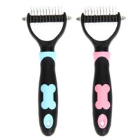 pelo liso peinado al por mayor-Venta caliente de Acero Inoxidable Pet Dog Cat Hair Comb Brush Rake Grooming Pet Detangling Peine En Cepillo para el Cabello Smooth Hair Comb