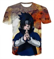 Wholesale Design T Shirt Boys - Newest Design Classic Anime Naruto 3d T shirts Men Boy Harajuku Fashion Summer Short Sleeve Cartoon Steetwear Tees Tops Clothes