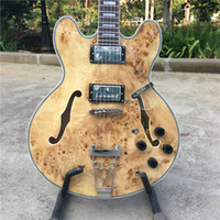 Solid Body 6 Strings Mahogany Human best-selling electric guitar, tree dacron wood color, cheap price, first class quality free shipping, picture real shot