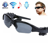 Wholesale Earphone Glasses - Hot Selling Sport Sunglasses Bluetooth 4.1 Headset Stereo Music Earphone Sun Glasses Micphone for Sport Driving