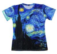 Wholesale vincent painting resale online - Vincent Van Gogh Oil Painting Starry Night Newest Design Womens Mens Funny Short Sleeves D Print T shirt Summer Casual T shirt S XL KK84