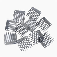Wholesale Wigs Extensions Cheap - Hot Sale Cheap Plastic Wigs clips Wig combs Clip plastic comb For Wig Cap and Wig Making Combs hair extensions tools 50 pcs