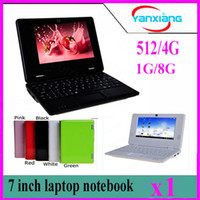 1pcs Atacado original 7inch Mini Netbook WIFI android 4.2 Laptop 512mb 4GB flash VIA8880 1.5Ghz notebook yx-cp-1