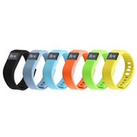 tw64 смарт браслет смотреть оптовых-FITBIT TW64 смарт-браслеты часы браслет Bluetooth водонепроницаемый Пассометр сна трекер функция для Android IOS Fitbit OTH048