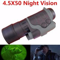 Wholesale Ir Night Vision Telescope - Free shipping! Visionking SD 4.5x50 mm Night Vision scope monocular+ IR+Retail Wholesale high quality night vision monocular telescope