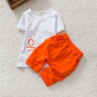 Wholesale Boys Shorts Pants Set - Summer season boys girls shirt+pant 2pcs sets short sleeve t shirt children cute clothing baby suit set