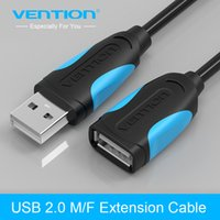 Vention USB 2.0 macho para fêmea Cabo USB Extender Extension Cable Extender para PC Laptop