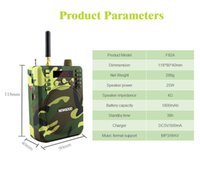 Wholesale Rechargeable Portable Radio Speaker - 2017 bird Caller hunting Remote Control Hunting Decoy Speaker Record Remote Control 1500M with 900 Animal Voices TF card FM Radio F92A