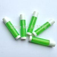Wholesale Translucent Boxes Shipping - 5g Translucent green lipstick tubes lip balm bottle sub-boxing free shipping