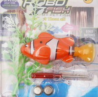 Wholesale Robo Fish Dhl - 7 Styles Robo Fish Water Activated Battery Powered Robofish kids Clownfish Bath Toys Baby Children Robotic Fish Electronic Pet Drop DHL