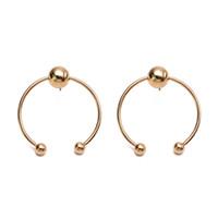 Wholesale Cheap Fashion Hoop Earrings - Fashion jewelry round stud earrings for women silver & gold alloy open hoop earrings wholesale cheap jewelry irregular geometry shape korean