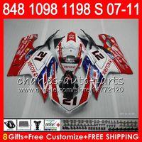 Wholesale 1198 fairings kit online - Bodywork For DUCATI S R R HM1 S R S S Fairing Kit Blue white