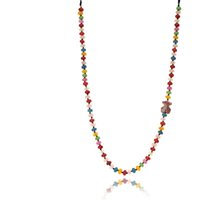 Wholesale Unique Red Necklaces - TL Top Quality Stainless Steel Bear Necklace Natural Rainbow Stone Popular Necklace For Women Unique Jewelry