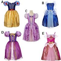 karikatür kız kar beyaz toptan satış-Bebek kızlar prenses TuTu dantel elbise çocuk kar Beyaz prenses elbiseler karikatür çocuklar Külkedisi elbise için parti C2035