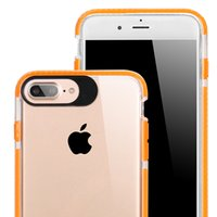 Wholesale Wholesale Unique Iphone Case - For iPhone 7 plus 6s 6 Plus Samsung S8 Plus Unique Transparent Armor Case For Iphone 7 6 6s Clear Cover With OPPBAG