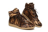 Wholesale Horse Hair Leopard - 2017 Mens Leopard Sneakers Horse Hair Fashion Genuine Leather Fur Ankle Boots Men Luxury Brand Casual High Top Shoes Size 38-46