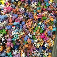 Wholesale Shopping Bags For Kids - Toy bag 100Pcs bag Little Pet Shop LPS Toys Animal Cartoon Cat Dog Action Figures Collection Kids toys Gift for Children