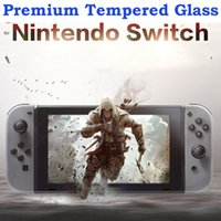 Wholesale nintendo screen protectors - Premium Tempered Glass for Nintendo Switch 2017 9H Hardness Explosion-proof HD Screen Protector Film for Nintendo Switch NS 2107