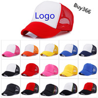 Wholesale Wholesale Custom Embroidered Snapback Hats - Trucker Caps Advertising Sun Mesh Cap Election Hats Activities Blank Snapback Truck Caps Factory Custom LOGO Men Women Baseball Flat Hat