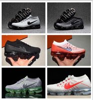 Wholesale Wholesale Spikes For Shoes - Wholesale 2017 New Men Arrival VaporMaxes Mens Shock Racer Running Shoes For Top quality Fashion Casual Vapor Maxes Sports Sneakers Trainers