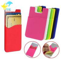 наклейки для мобильных телефонов оптовых-силиконовые бумажник кредитной карты наличные карманные наклейки клей держатель чехол мобильный телефон 3 м гаджет Samsung