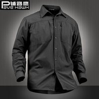 Wholesale Army Style Camping - Military Style Tactical Shirt Men Teflon Nylon Breathable Quick Dry outdoor Hiking Shirts Long Sleeve SWAT Combat Army Shirts