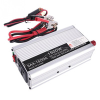 Wholesale Sine Wave Power Inverter Charger - Wholesale- Silver 1500W 3000W DC 12V-AC 220V 240V Car Charger Car Solar Power Inverter Converter Adapter Modified Sine Wave Form with USB
