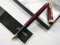 Wholesale Red Lacquer - Parker Sonnet Red Lacquer With Golden Trim M Nib Fountain Pen