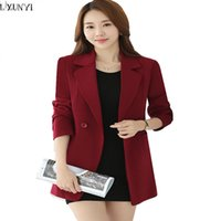 Blazer coreani da donna con bottoni Primavera 2017 Slim Long Office da donna Blazer e giacche Plus Size 4XL Cappotto casual da abito