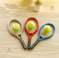 Wholesale Dollhouse Miniature Tennis Racket Ball Mini Toy Sandplay Psychother Sport Toy