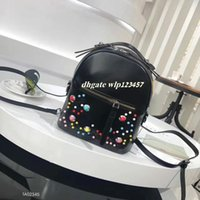 Wholesale Pink Dot Delivery - Free delivery FD 2017 popular new fashion women's school bag hot Liu nail style ladies backpack designer backpack PU leather handbag ladies