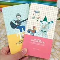 Wholesale Design Paper Pads - Wholesale- New Cute cartoon designs sticky book   memo pad   Paper notepad  sticker Office & School Supplies
