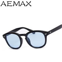 Wholesale Johnny Depp Lens - Wholesale-AEMAX 2016 Tint lens Super Star Johnny Depp Sunglasses Men Women Brand Designer Fashion Vintage Sun Glasses Oculos Gafas AE118