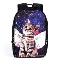 Wholesale Travel Bags For Cats - Casual Nylon Backpacks 3D Animals School Bags for Teenagers Girls Cute Pet Cat Backpack Female Travel Backpack Rucksack
