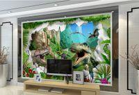 Wholesale dinosaur wallpaper mural for sale - Group buy 3d wallpaper mural Custom d dinosaur oil painting living room TV wall photo wallpaper