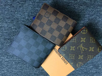 Wholesale Wallets For Men Brands - 2017 Mens Brand Leather Wallet, Men's Genuine Leather With Wallets For Men Purse Wallet Men Wallet Cowhide with box free Epacket shipping