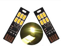 ingrosso interruttore luminoso led dim-USB Light Super Bright 6 LED Mini USB Light Lamp con Smart Touch Interruttore dimmer elettronico per luce tastiera portatile