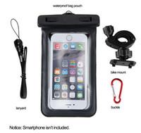 Wholesale Handlebar Cover Iphone - Universal Waterproof Phone Case Cover Bag Bike Bicycle Handlebar Mount Holder Bracket for iPhone 6 Plus