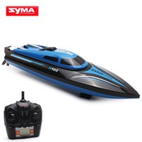 Wholesale Electric Boat Remote Control - Wholesale- High Speed Skytech H100 RC Boat 2.4GHz 4 Channel 30km h Racing Remote Control Boat with LCD Screen as gift For children